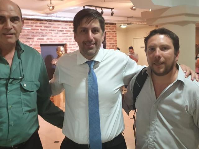 El secretario gremial junto al Ministro Trotta