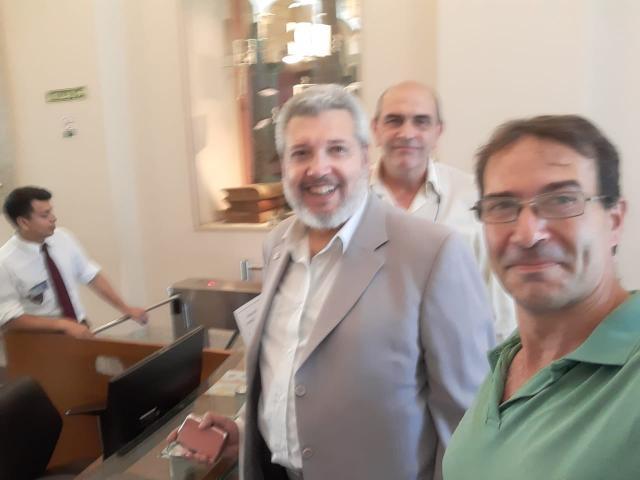 Lic. Gabriele, Ing. Mozzi e Ing. Heyaca