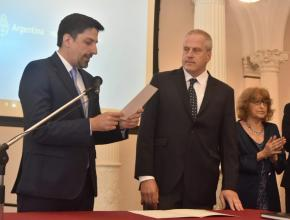 El Secretario de Políticas Universitarias, Lic. Jaime Perczyk junto al Ministro de Educación Nicolás Trotta